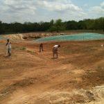 Vineyard Irrigation Reservoir construction.